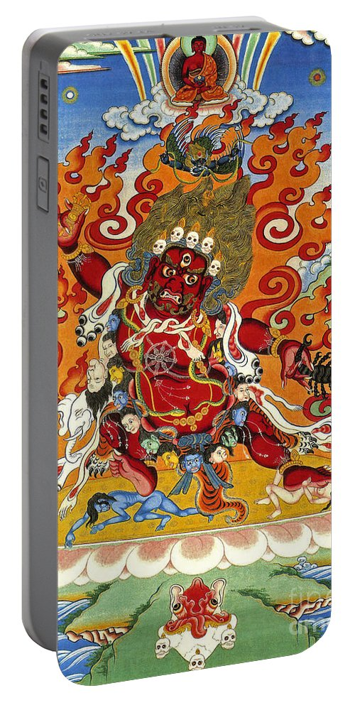 Thangka Portable Battery Charger featuring the painting Guru Dragpo by Sergey Noskov