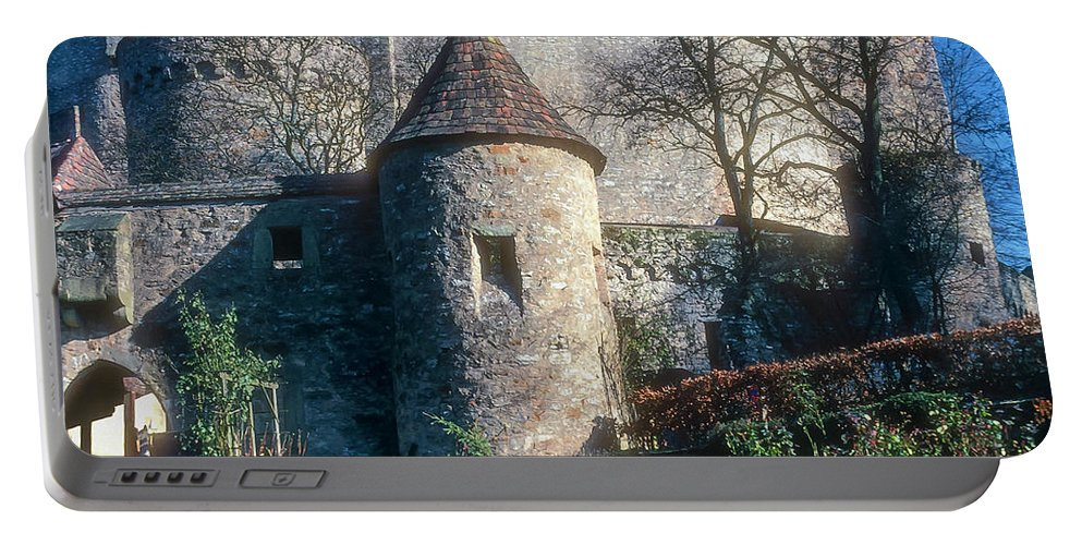 Guttenberg Castle Germany Castles Building Buildings Structure Structures Architecture Turret Turrets Portable Battery Charger featuring the photograph Guttenberg Castle by Bob Phillips