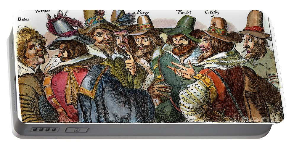 1605 Portable Battery Charger featuring the drawing Guy Fawkes, 1570-1606 by Granger