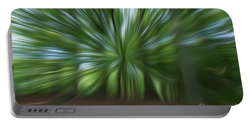 Dutch Portable Battery Charger featuring the digital art Haagse Bos. Oil Painting Effect. by Richard Wareham