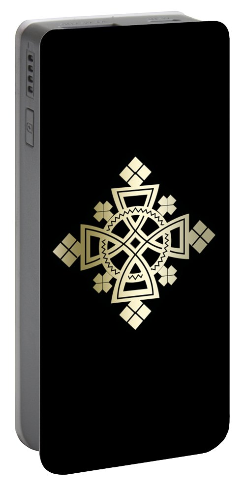 Habesha Portable Battery Charger featuring the digital art Habesha Holy Cross by Filmon Tesfatsion