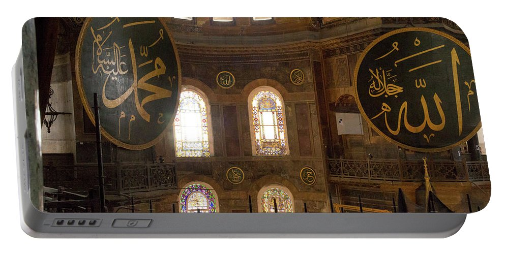 Asia Portable Battery Charger featuring the photograph Hagia Sophia Interior by Emily M Wilson