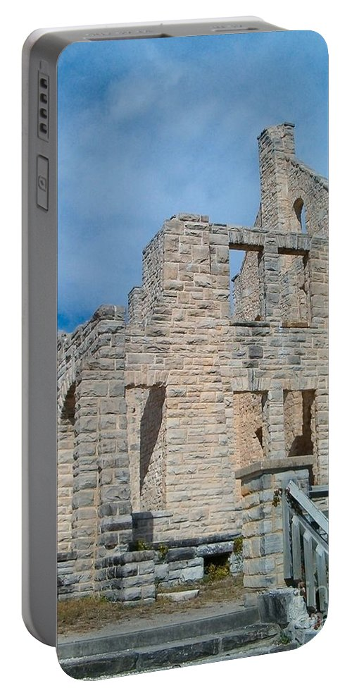 Castle Portable Battery Charger featuring the photograph Haha Tonka Castle 2 by Sara Raber
