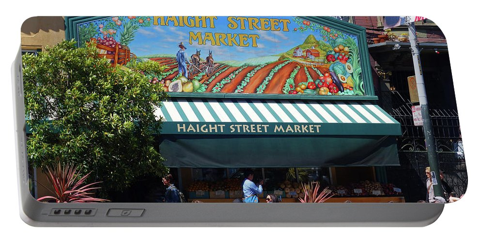 San Portable Battery Charger featuring the photograph Haight Steet Market San Francisco by Toby McGuire
