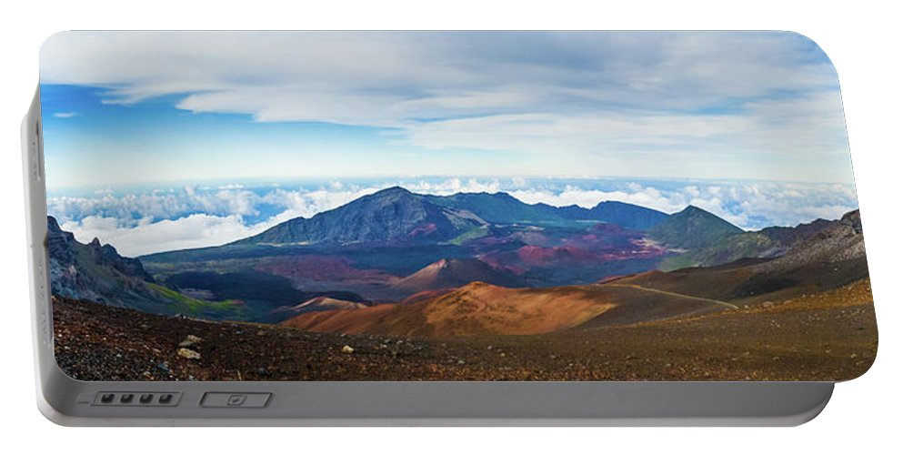 Afternoon Portable Battery Charger featuring the photograph Haleakala Crater by Frank Testa