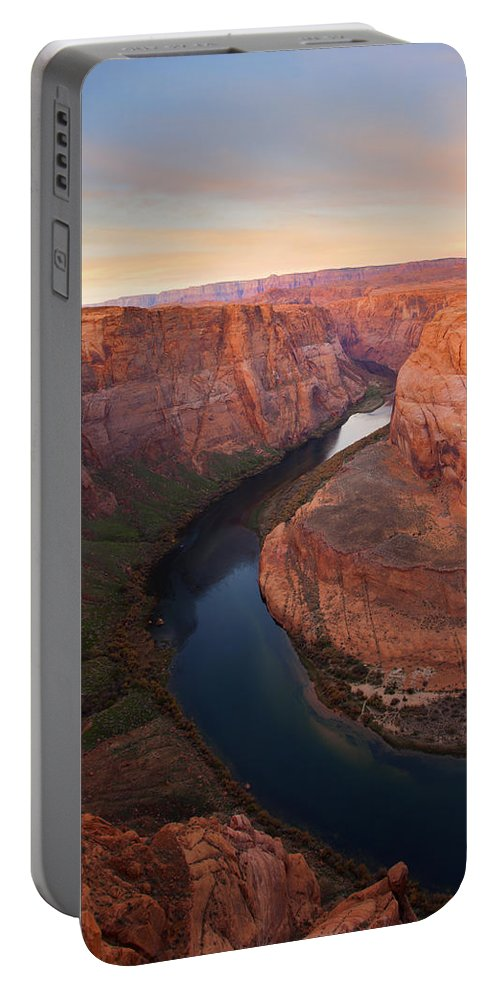 Horseshoe Bend Portable Battery Charger featuring the photograph Half Bend Sunrise by Mike Dawson