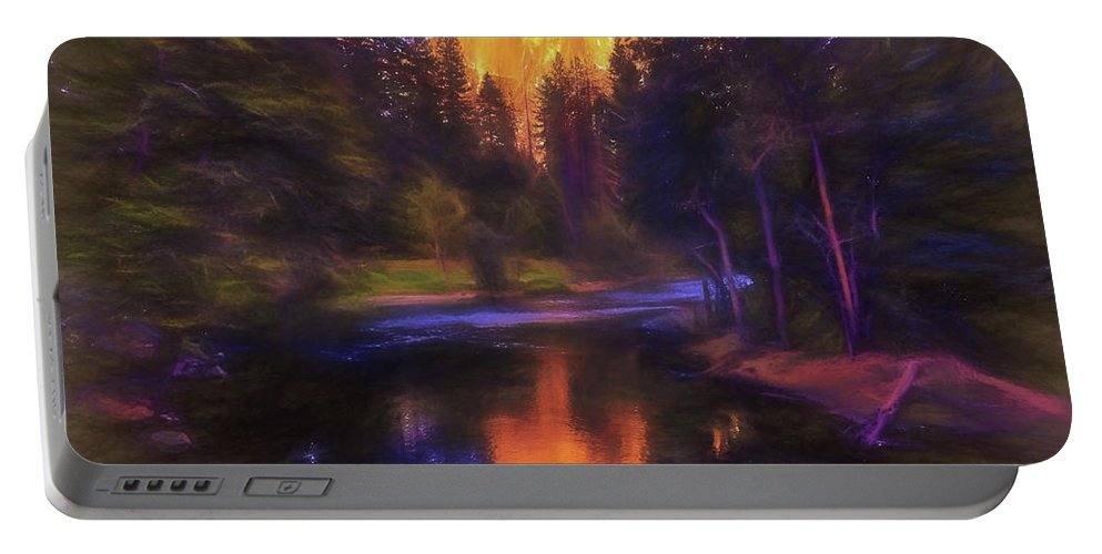 Half Dome Portable Battery Charger featuring the photograph Half Dome Sunset by Daniel Penn
