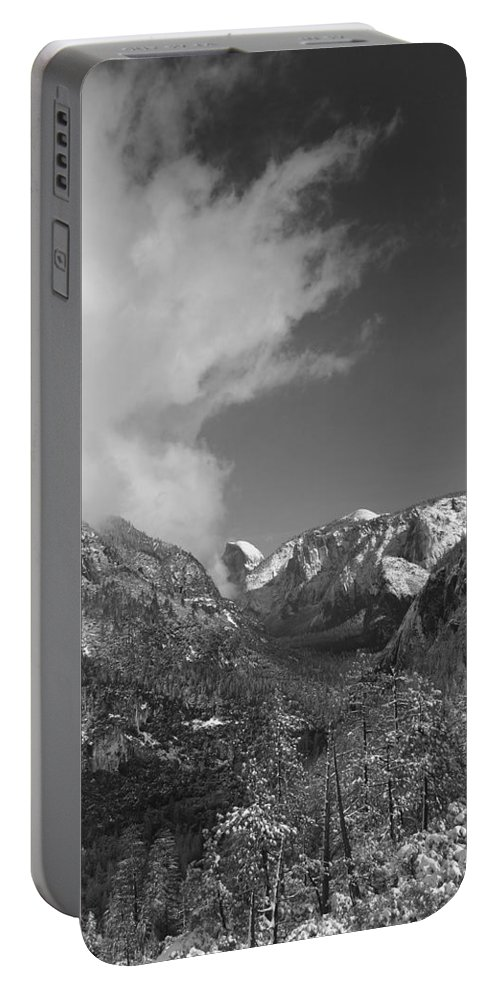 Half Dome Portable Battery Charger featuring the photograph Half Dome Winter by Travis Day