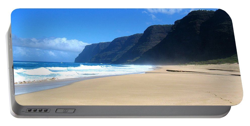 Hawaii Portable Battery Charger featuring the photograph Hali Pale Beach Kauai Hawaii by Thomas Marchessault