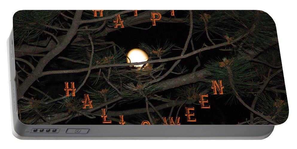 Halloween Portable Battery Charger featuring the photograph Halloween Card by Aimee L Maher ALM GALLERY