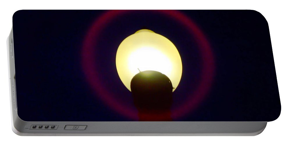 Lamp Post Portable Battery Charger featuring the photograph Halo Of Light by Donna Blackhall