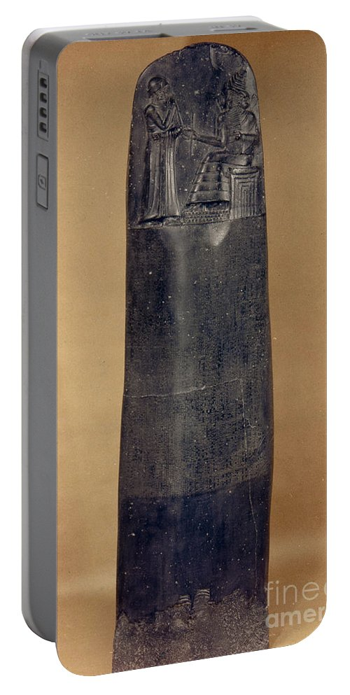 18th Century B.c. Portable Battery Charger featuring the photograph Hammurabis Code by Granger