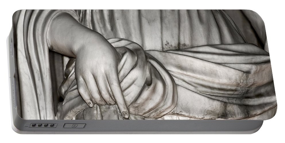 Christopher Holmes Photography Portable Battery Charger featuring the photograph Hand And Robe by Christopher Holmes