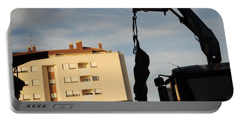 Spain Portable Battery Charger featuring the photograph Hanging Bull by Rafa Rivas