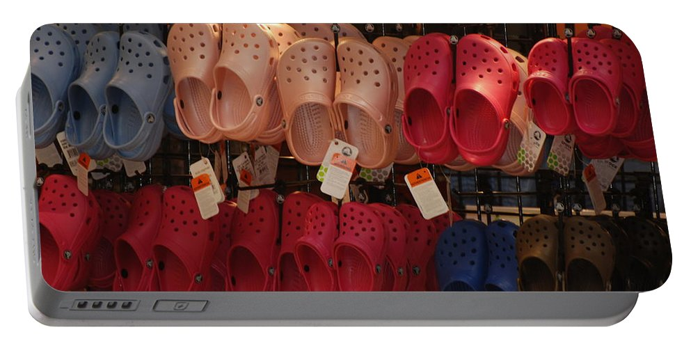 Pop Art Portable Battery Charger featuring the photograph Hanging Crocs by Rob Hans