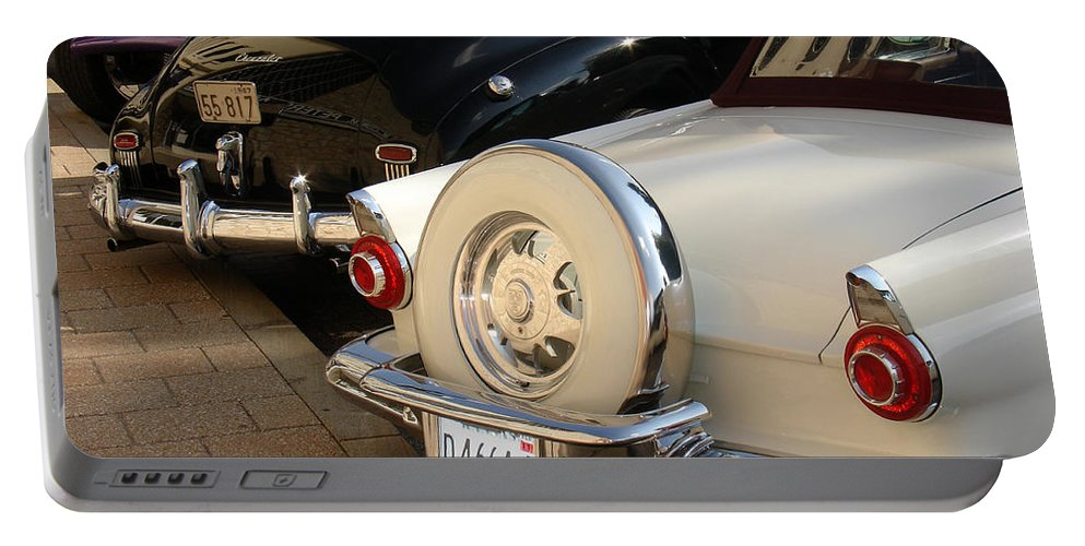 Classic Cars Portable Battery Charger featuring the photograph Hanging Out by Steve Karol