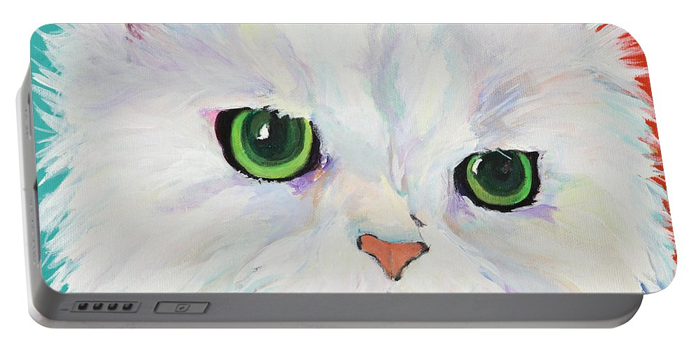 Acrylic Portable Battery Charger featuring the painting Hannah by Pat Saunders-White