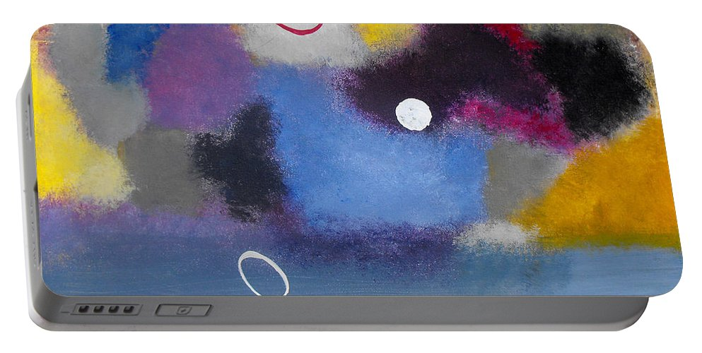 Color Portable Battery Charger featuring the painting Happiness II by Ruth Palmer