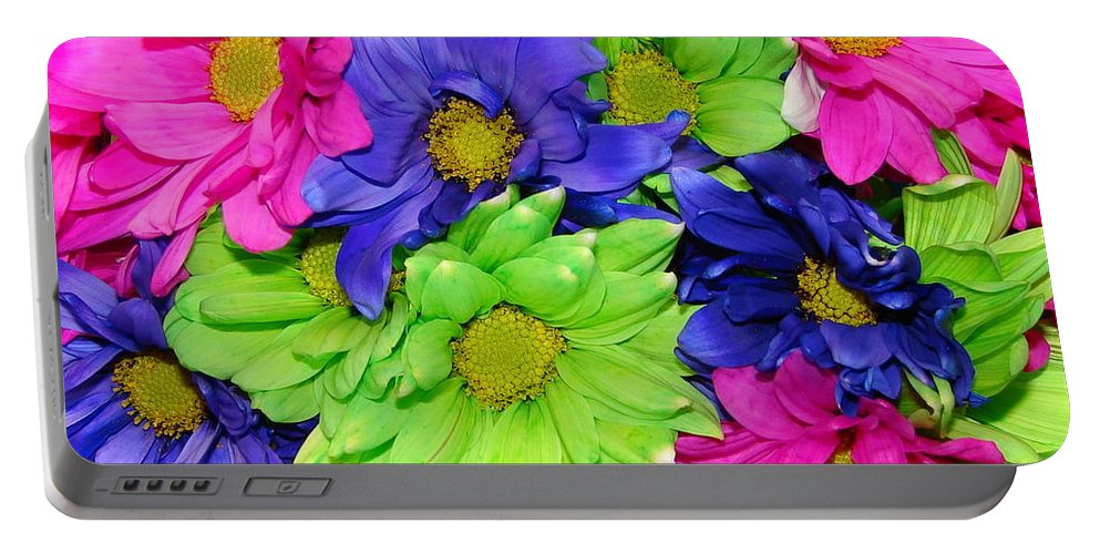Flowers Portable Battery Charger featuring the photograph Happiness by J R  Seymour