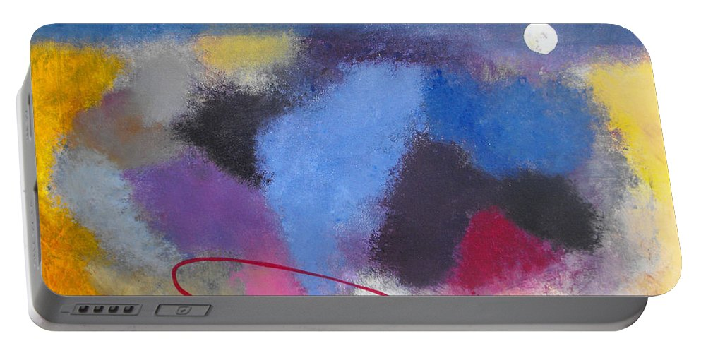 Color Portable Battery Charger featuring the painting Happiness by Ruth Palmer