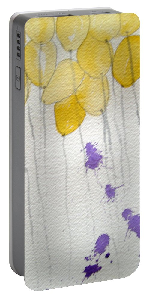 Balloon Celebrate Fun Happy Play Birthday Portable Battery Charger featuring the painting Happy Birthday Ashleigh by Patricia Caldwell