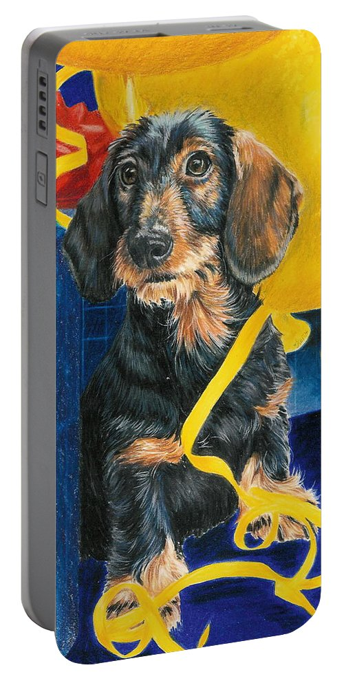 Dogs Portable Battery Charger featuring the drawing Happy Birthday by Barbara Keith