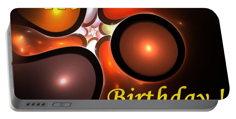 Happy Birthday Portable Battery Charger featuring the digital art Happy Birthday by Steve K
