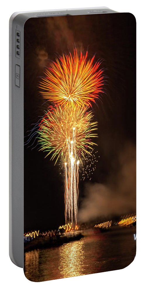 Fireworks Portable Battery Charger featuring the photograph Happy Birthday, United States Of America 9 by Kay Brewer