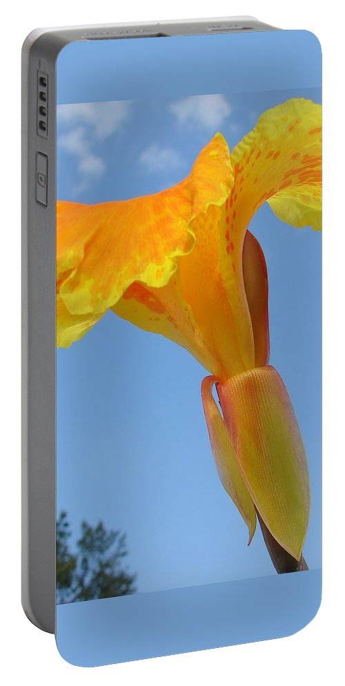 Portable Battery Charger featuring the photograph Happy Canna by Luciana Seymour