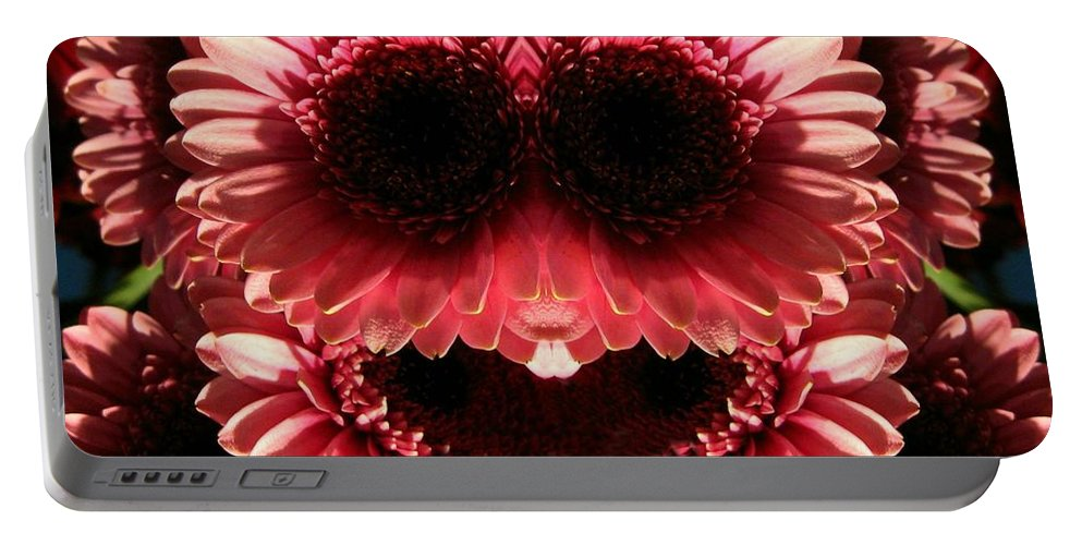 Digital Art Portable Battery Charger featuring the digital art Happy Daisies Are Here Again by Max DeBeeson