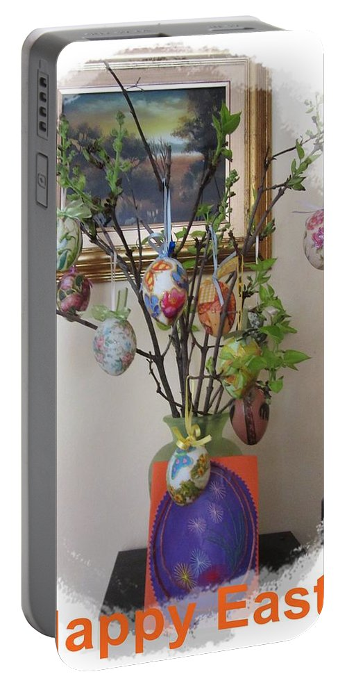 Easter Portable Battery Charger featuring the photograph Happy Easter by Vesna Martinjak
