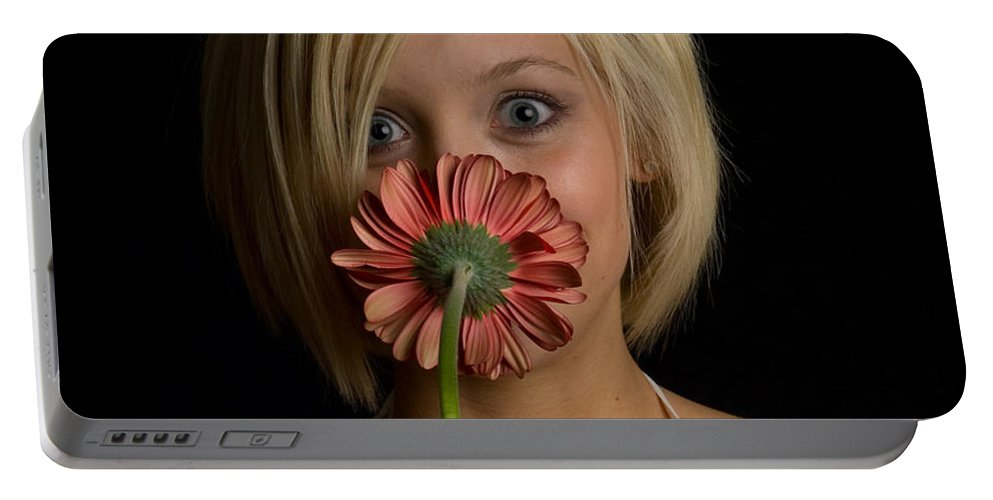 Flower Portable Battery Charger featuring the photograph Happy Flower by Scott Sawyer