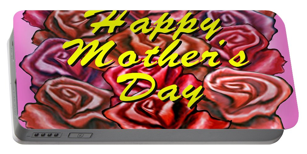 Mom Portable Battery Charger featuring the painting Happy Motherer's Day by Kevin Middleton