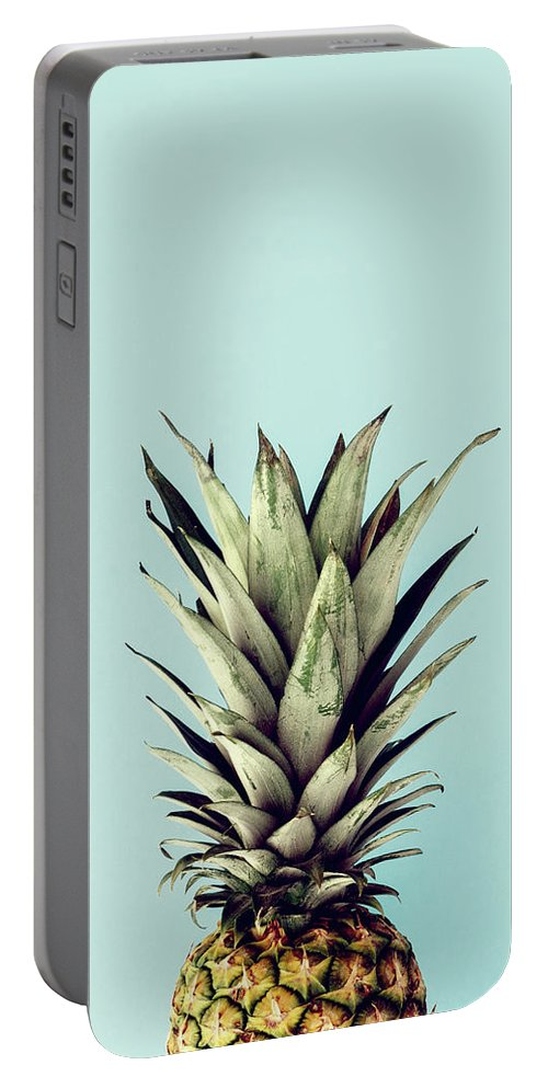 Portable Battery Charger featuring the digital art Happy Pinneaple by Rafael Farias