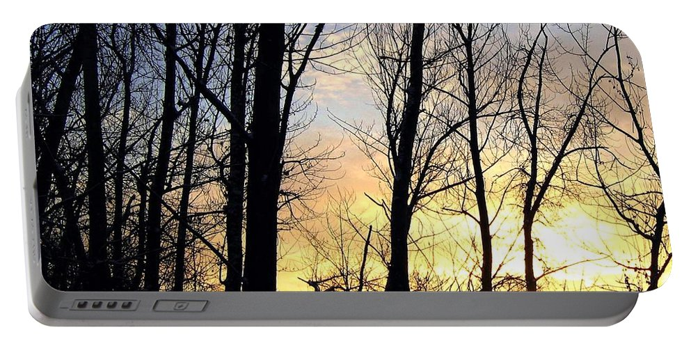 Sunset Portable Battery Charger featuring the photograph Happy Trails Sunset by Will Borden