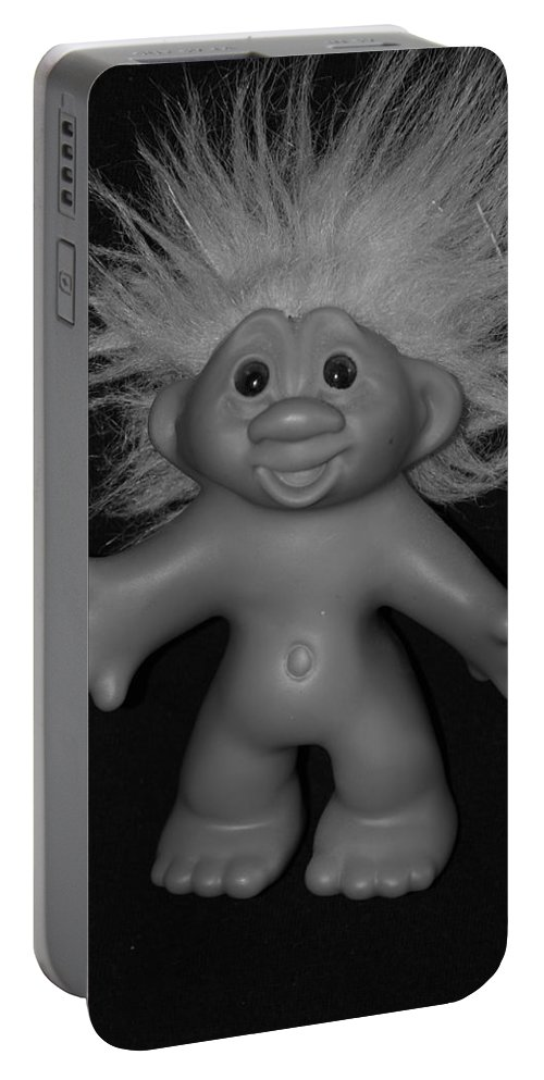 Happy Portable Battery Charger featuring the photograph Happy Troll by Rob Hans
