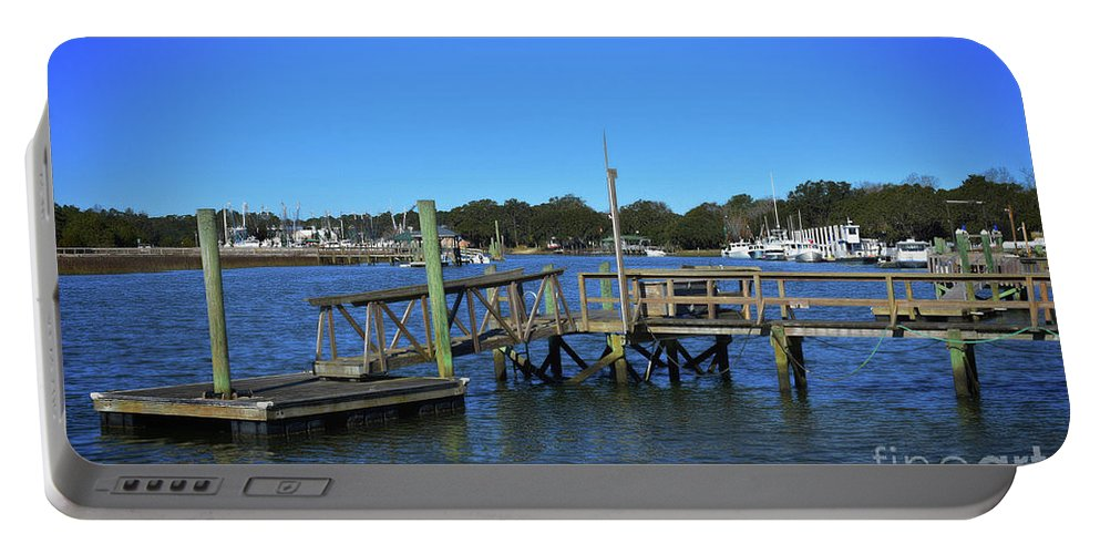 Maritime Portable Battery Charger featuring the photograph Harbor At Mcclellanville, Sc by Skip Willits