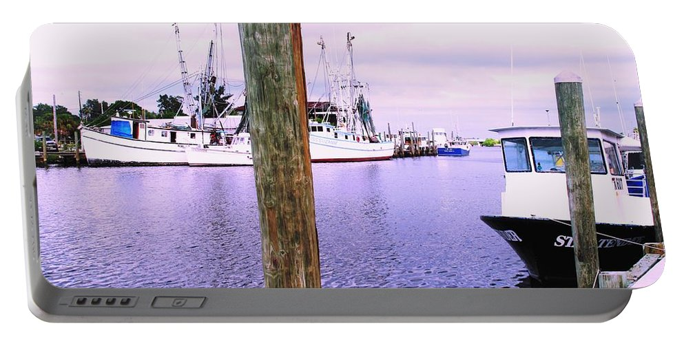 Tarpon Springs Portable Battery Charger featuring the photograph Harbor Master by Ian MacDonald