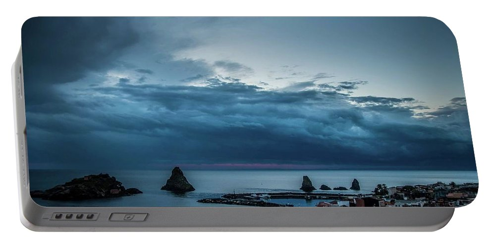 Sunrise Portable Battery Charger featuring the photograph Harbor Sunrise by Larkin's Balcony Photography
