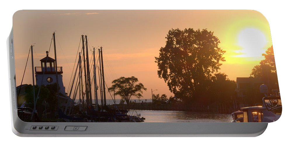Grand Bend Portable Battery Charger featuring the photograph Harbor View 11 by John Scatcherd