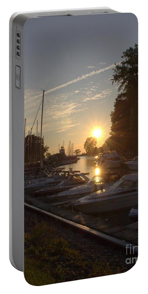 Grand Bend Portable Battery Charger featuring the photograph Harbor View 12 by John Scatcherd