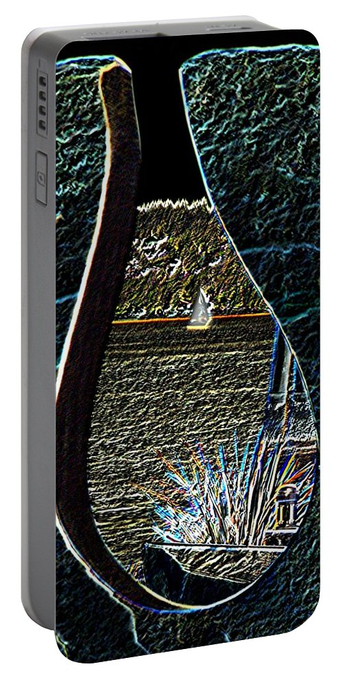 Bremerton Portable Battery Charger featuring the photograph Harborside Fountain Park Bremerton Wa 2 by Tim Allen