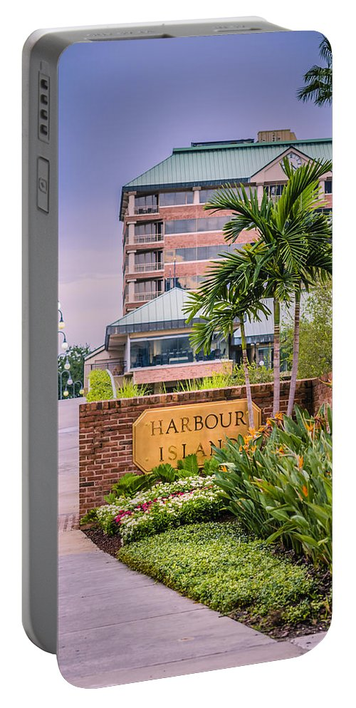 Harbour Island Portable Battery Charger featuring the photograph Harbour Island Retreat by Carolyn Marshall