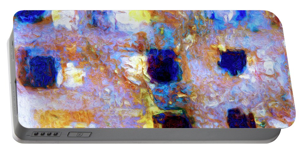 Abstract Portable Battery Charger featuring the painting Hard Eight by Dominic Piperata