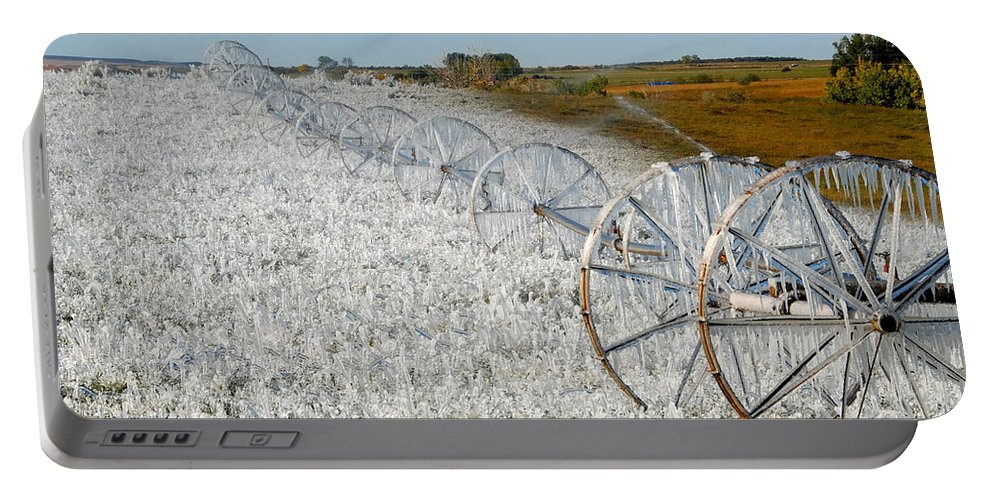Farm Portable Battery Charger featuring the photograph Hard Land Farming by David Lee Thompson