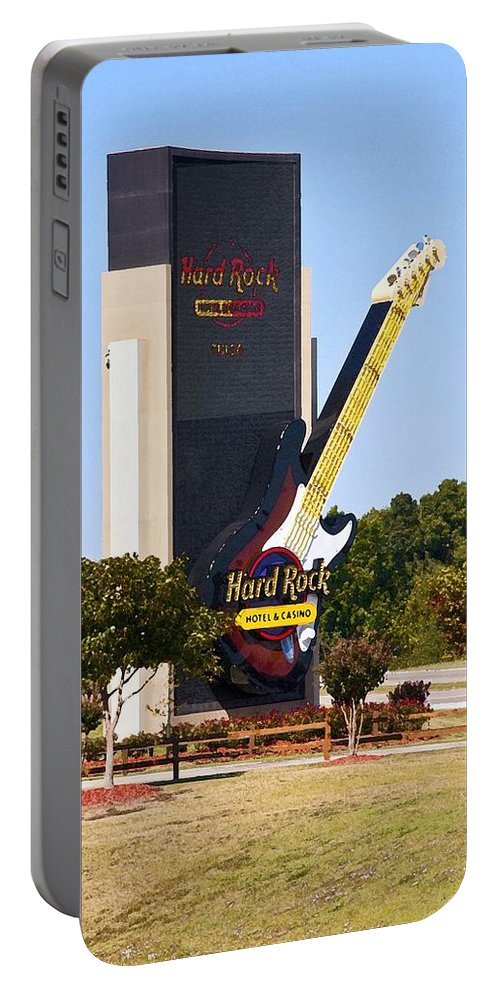 Hard Rock Casino Portable Battery Charger featuring the photograph Hard Rock Casino by Terry Anderson