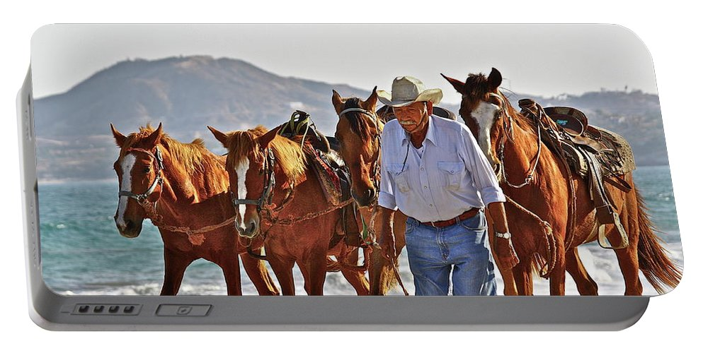 Animals Portable Battery Charger featuring the photograph Hardworking Man by Diana Hatcher