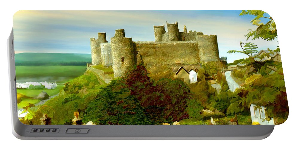 Castles Portable Battery Charger featuring the photograph Harlech Castle by Kurt Van Wagner
