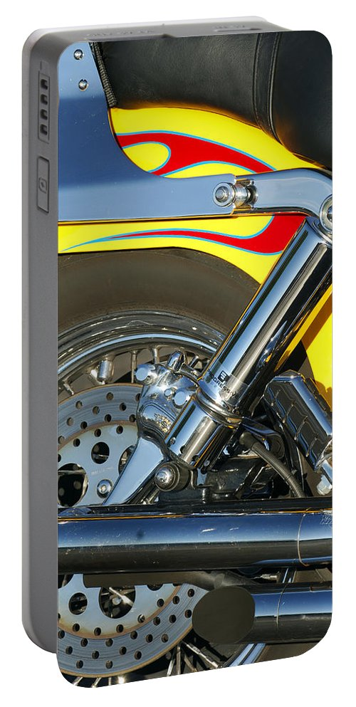 Harley-davidson Twin Cam Portable Battery Charger featuring the photograph Harley-davidson Twin Cam 88 Rear Wheel by Jill Reger