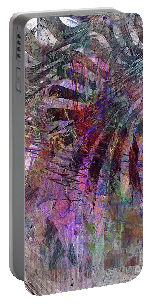 Harmonic Resonance Portable Battery Charger featuring the digital art Harmonic Resonance by John Beck